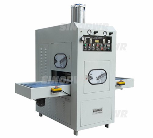 Automatic shuttle way HF pvc blister packing machine