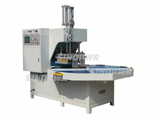 HF turntable plastic welding machine