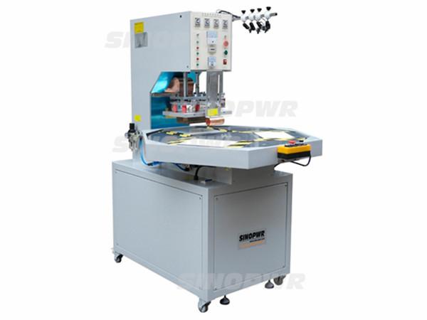Simple round table HF welding machine