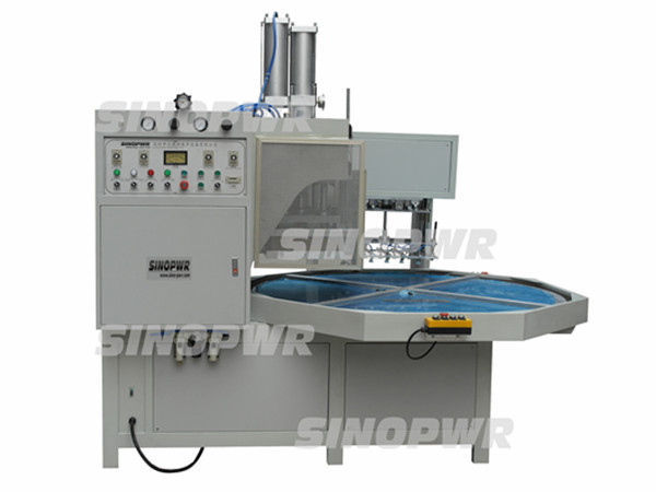 Turntable high frequency plastic blister weld&cut machine