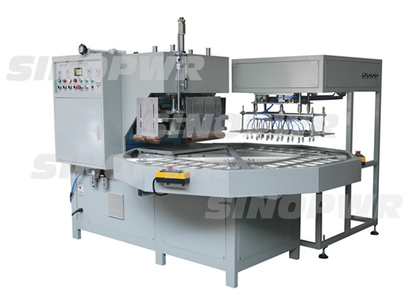 High frequency plastic sheet welding and cutting machine