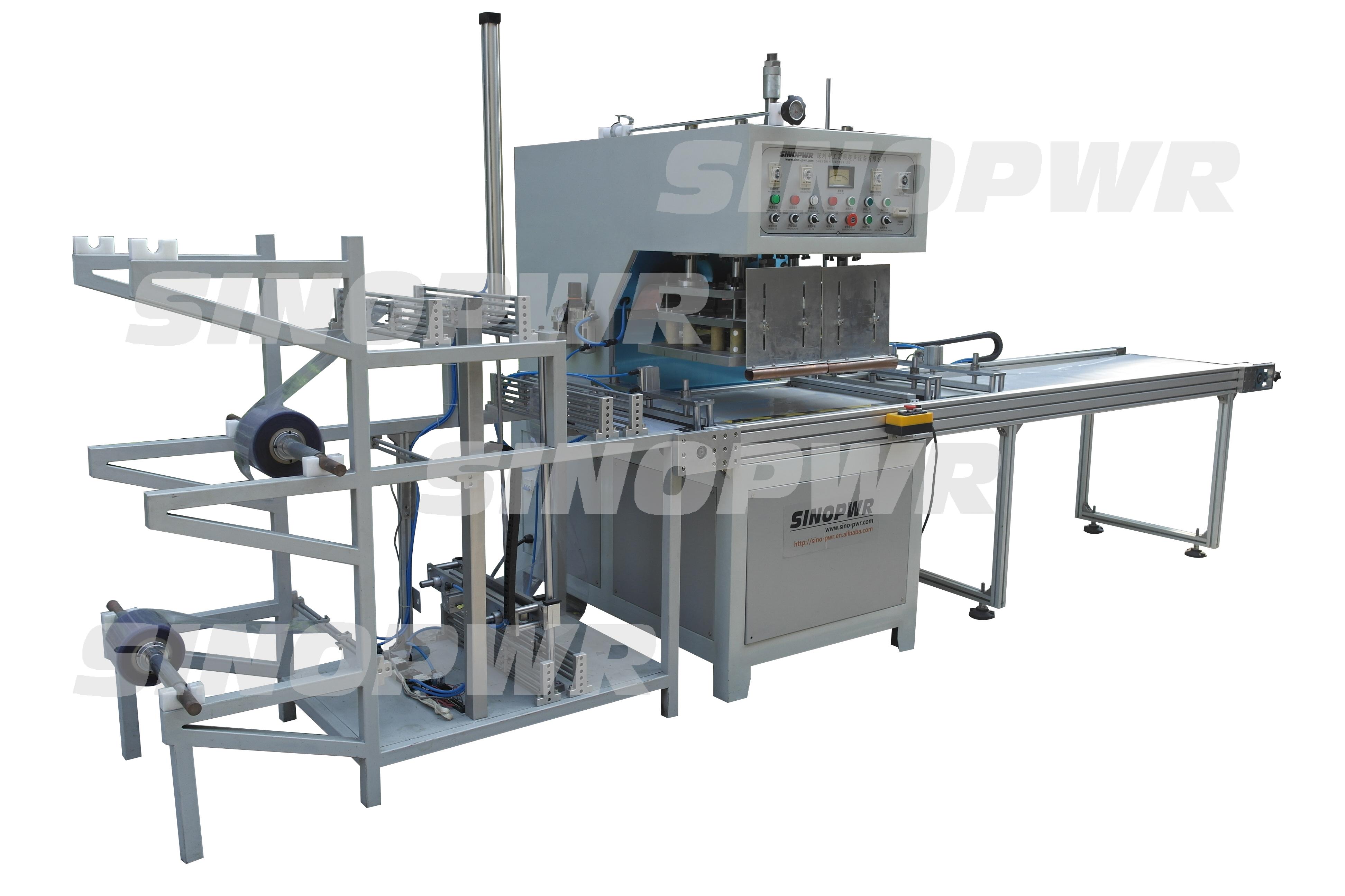 automatic high frequency PVC square box folding machine