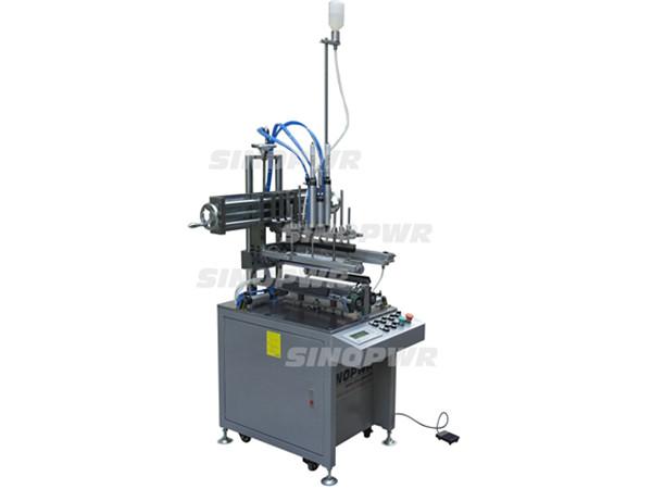 Cylinder semi-auto gluing machine