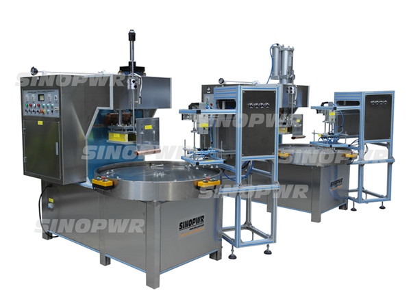 High frequency stainless rack bags making machine