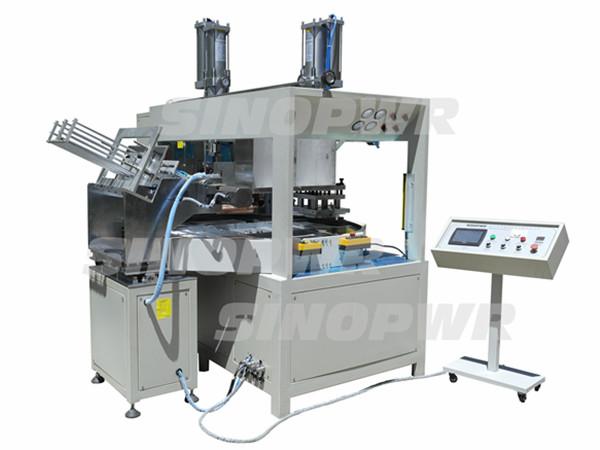 Medical colostomy bag making machine