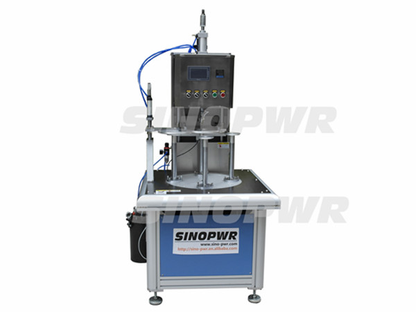 Rotary cylinder bottom glue forming machine
