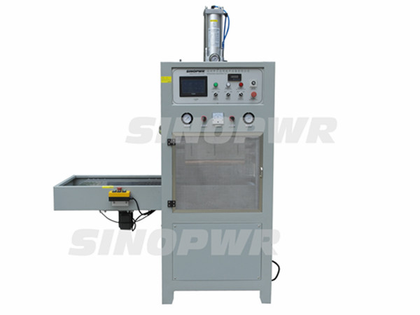 Automatic single slide plate HF welding machine