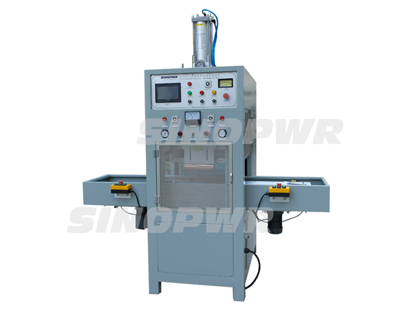 Automatic intelligent shuttle way plastic weld & cut machine