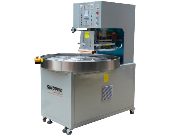 Rotary plate HF welding machine