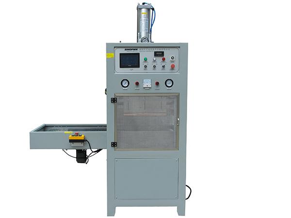 Automatic single slide plate HF welding machine