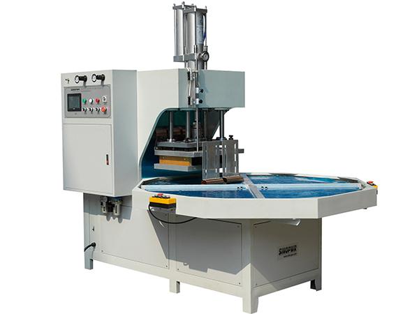 HF turntable plastic welding machine