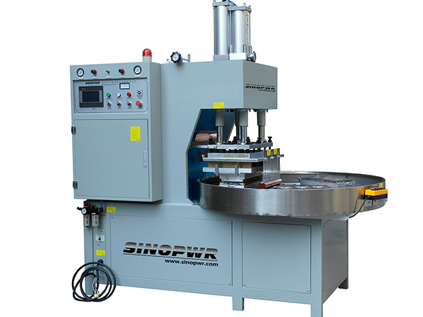 High frequency round table weld and cut machine