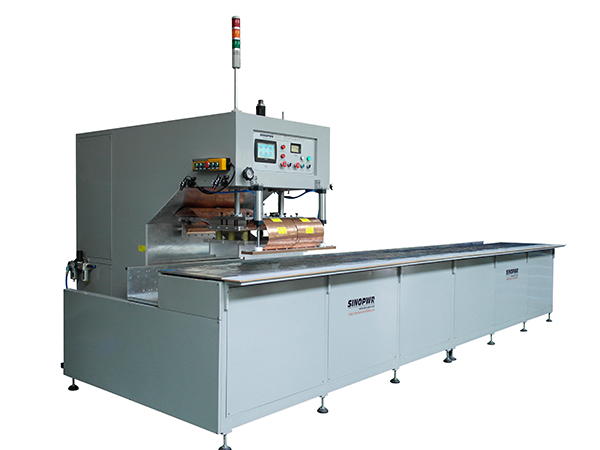 High frequency auto stepping welding machine for oil containment boom